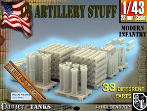 1-43 US Artillery Stuff in Smooth Fine Detail Plastic