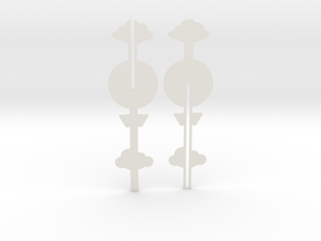 Cake Topper - Clouds & Balloon #1 in White Strong & Flexible