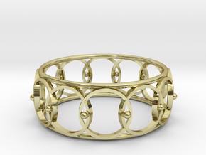 Circle Cuff in 18k Gold Plated Brass