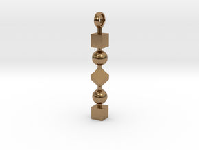 Totem of Cubes&Spheres (Still) in Natural Brass