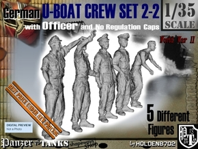 1-35 German U-Boot Set 2-2 in Smooth Fine Detail Plastic