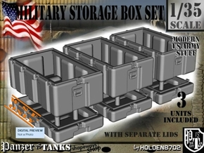 1-35 Military Storage Box Set in White Processed Versatile Plastic