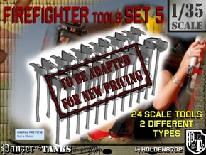 1/35 Firefighter Tools Set5 in Transparent Acrylic