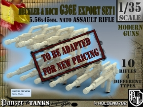 1-35 Heckler Koch Rifle G36E Export Set1 in Transparent Acrylic