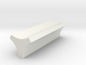 Rocket Gun Barrel Spacer in White Natural Versatile Plastic