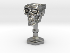 Chalice: Skull Chalice for 1:24 scale (1/2 scale) in Natural Silver