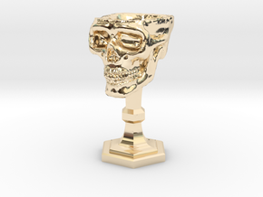 Chalice: Skull Chalice for 1:24 scale (1/2 scale) in 14k Gold Plated Brass