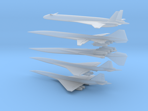 1/600 BOEING/NASA 2707/HCST SUPERSONIC TRANSPORTS  in Smooth Fine Detail Plastic