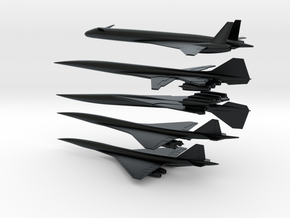1/600 BOEING/NASA 2707/HCST SUPERSONIC TRANSPORTS  in Black Hi-Def Acrylate