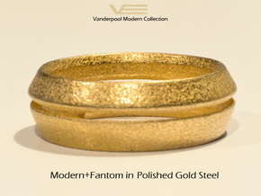 Modern+Fantom in Polished Gold Steel: 6.5 / 52.75