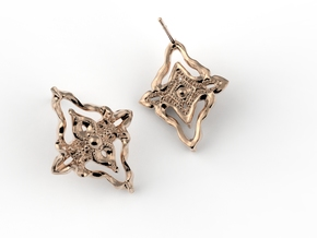 The Elisabeth Earring in Polished Brass