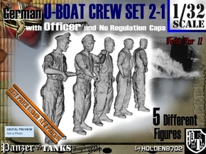 1-32 German U-Boot Set 2-1 in Smooth Fine Detail Plastic