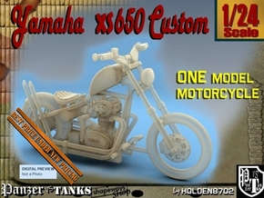 1-24 Yamaha XS650 Custom in White Natural Versatile Plastic