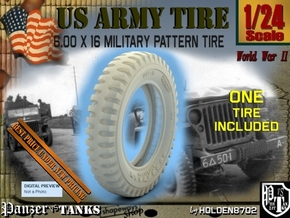 1-24 Tire 600x16 in Smooth Fine Detail Plastic