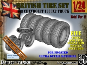 1-24 Chevy LRDG Tire And Rims FUD Set3 in Smooth Fine Detail Plastic