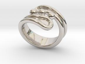 Threebubblesring 18 - Italian Size 18 in Platinum