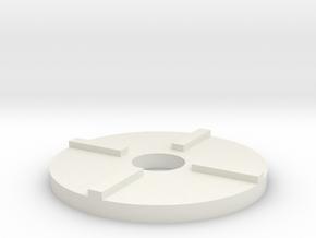 Teller Schneckenkornstreuer 1:32 Teil 4 in White Natural Versatile Plastic