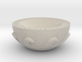 Meander Bowl in Natural Sandstone