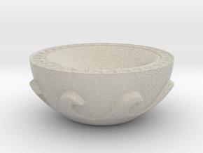 Meander Bowl in Natural Sandstone