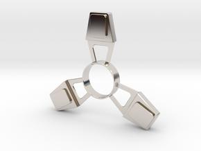 Fidget Spinner (metal) in Platinum