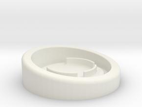 Canary 1 Light Ring Blocker in White Natural Versatile Plastic