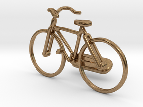 Bicycle Cufflink in Natural Brass