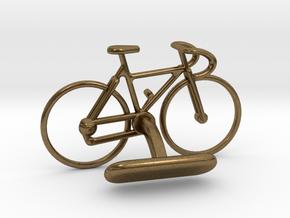 Racing Bicycle Cufflink in Natural Bronze