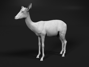 Impala 1:20 Standing Female in White Natural Versatile Plastic