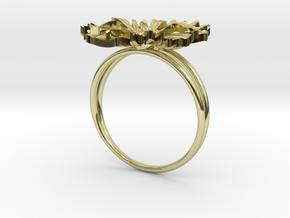 Daisy ring  in 18k Gold Plated Brass: 6 / 51.5