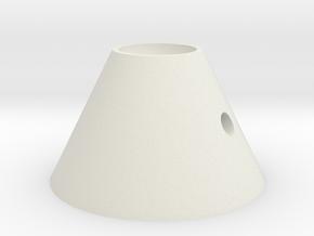 錐-2 in White Natural Versatile Plastic