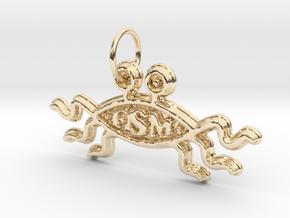 FSM Keyring in 14K Yellow Gold