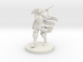 Human Female Barbarian in White Natural Versatile Plastic