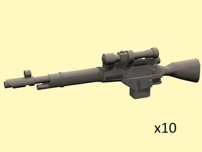 28mm Mosin-91 sniper laser rifles in Smoothest Fine Detail Plastic