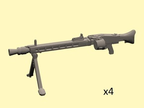 28mm MG-42 enlarged with drum (x4) in Frosted Extreme Detail