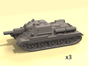 1/160 SU-122 self-propelled gun (WSF version) in Smooth Fine Detail Plastic