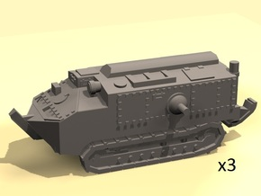 1/160 scale Schneider tank in Smooth Fine Detail Plastic