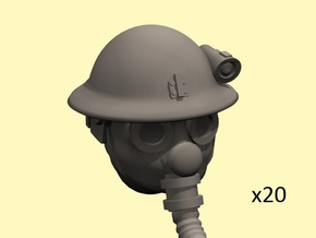 28mm Dieselpunk British heads in Frosted Extreme Detail