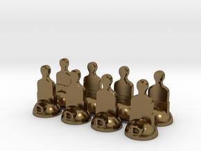Star Trek Pawns in Polished Bronze