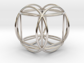 Hexasphere w/nested Hexahedron in Platinum