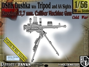1/56 DSHK Dushka W-Tripod AA Sights V001  in Smooth Fine Detail Plastic