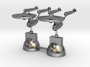 Star Trek Knights in Polished Silver