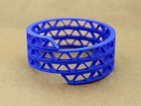 Corrugated Wrap Bracelet in Blue Processed Versatile Plastic