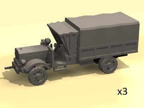 1/220 scale WW1 light trucks in Smooth Fine Detail Plastic