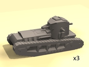 1/220 WW1 Whippet tanks (3) in Smooth Fine Detail Plastic