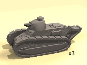 1/220 Renault tank WW1 in Smooth Fine Detail Plastic