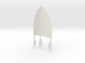 """BotW"" Kite Shield in White Natural Versatile Plastic: 1:12"