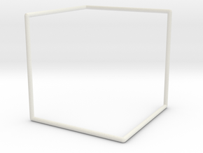 """D"" Surface Tile Frame in White Strong & Flexible"