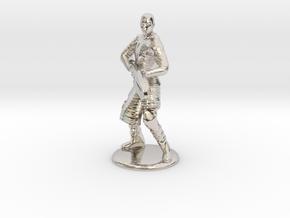 Jaffa Firing Staff 35 mm new in Rhodium Plated Brass