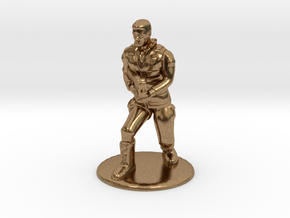SG Male Soldier Creeping 35 mm new in Natural Brass