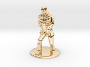 SG Male Soldier Creeping 35 mm new in 14K Yellow Gold